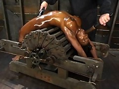 Hogtied pushes Jada Fire to her sexual limits