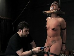 Sara Faye is put through a live six hour bondage gauntlet.