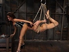 Satine is pushed to her limits with clothespins and electricity